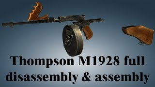 Thompson M1928: full disassembly & assembly
