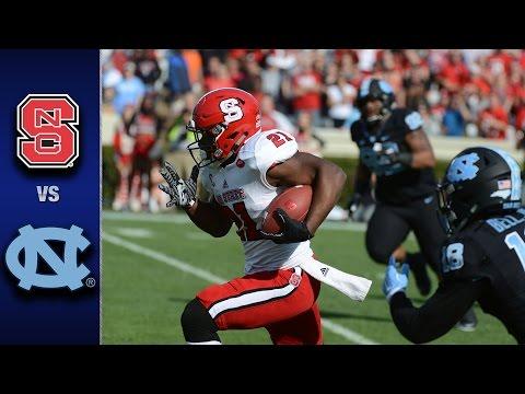 NC State vs. North Carolina Football Highlights (2016)