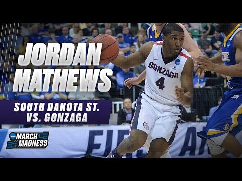 Gonzaga's Jordan Mathews scores 16 in win over South Dakota St.