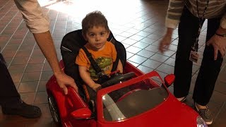 Go Baby Go toy care giveaway at Shriners Hospitals helps patients with special needs