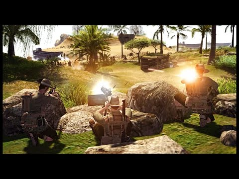 Australian Army Island Defense - Japanese Invasion of Tulagi | Men of War Assault Squad 2 Gameplay