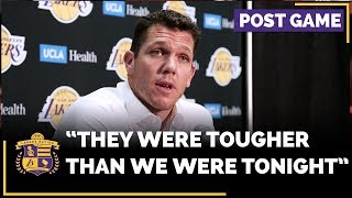 Lakers Luke Walton Frustrated The Miami Heat Were The Tougher Team In Loss