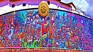 Cusco Mural Shows History Of Peru - By Juan Bravo