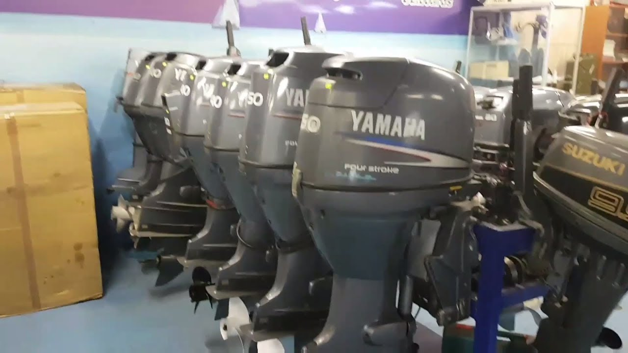 Лодочный мотор Гибрид ветерок + чемпион - YouTube