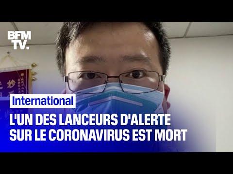 Coronavirus: l'un des huit médecins lanceurs d'alerte est mort