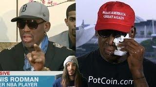 Dennis Rodman: Prophet Of North Korea? (2014 Prediction To 2018 Crying In MAGA Hat & Pot Coin Shirt)