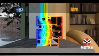 Finestre di alluminio Metra - isolamento termico (it)