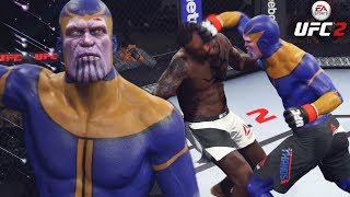 Thanos Has Powerful Ground And Pound! Heavy Hands! EA Sports UFC 2 Ultimate Team Gameplay