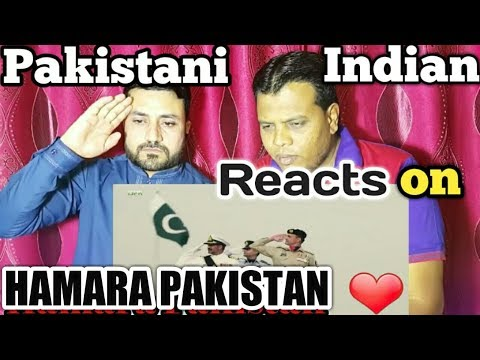 Pakistani and Indian Reacts Together On HAMARA PAKISTAN (URDU)ISPR Song for Pakistan day 2018