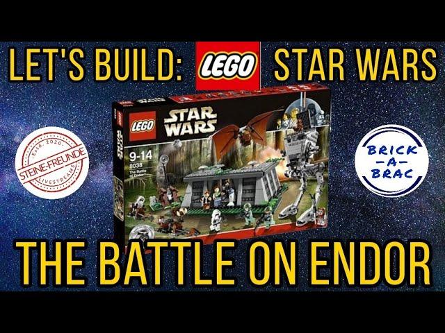 Let's build: LEGO® Star Wars 8038 The Battle on Endor - LIVE!