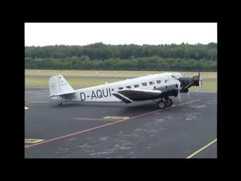 Ju 52 Rundflug Start/Landung in Mönchengladbach HB-HOT - Eröffnung Hugo Junkers Hangar