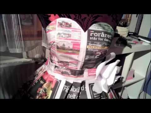 Making a newspaper dress!