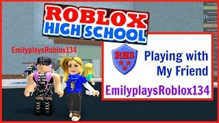Playing ROBLOX High School with EmilyplaysRoblox134