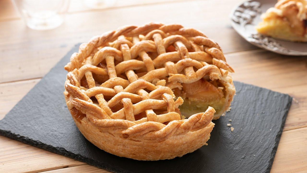 スイートポテト・アップルパイの作り方 Sweet Potato Apple Pie*Eggless|HidaMari Cooking