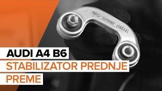 Kako zamenjati stabilizator prednje preme na AUDI A4 B6 [VODIČ]