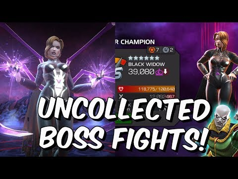 Vision (Aarkus) & Black Widow Claire Voyant Uncollected Boss Fights! - Marvel Contest Of Champions