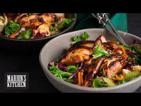 Sticky Grilled Chicken Salad - Marion's Kitchen