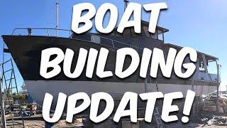 Steel boat building update - BUILDING BRUPEG (Ep. 28)