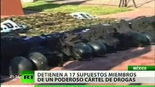 Detienen en México a 17 presuntos integrantes del cartel del Golfo