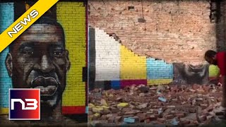 Act of God DESTROYS George Floyd Mural in Ohio - Twitter Users React