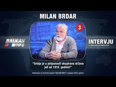 INTERVJU: Milan Brdar - Srbija je u potpunosti okupirana država još od 1918. godine! (13.01.2018)