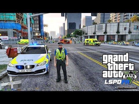 GTA 5 LSPDFR 0.3.1 - EPiSODE 255  - LET'S BE COPS - BRITISH PATROL (GTA 5 PC POLICE MODS)