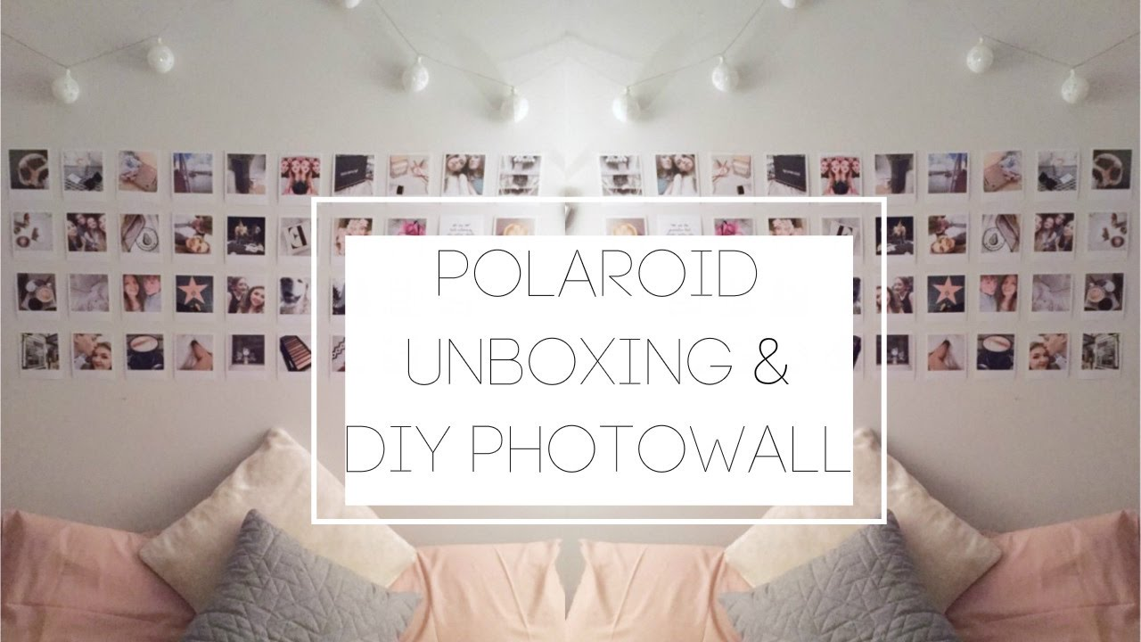 Polaroid wall on tumblr - Lala Lab Polaroid Unboxing Diy Tumblr Photo Wall Wanderlxst El