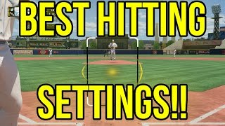 MLB 16 The Show Hitting Tips and Tutorial - BEST HITTING SETTINGS