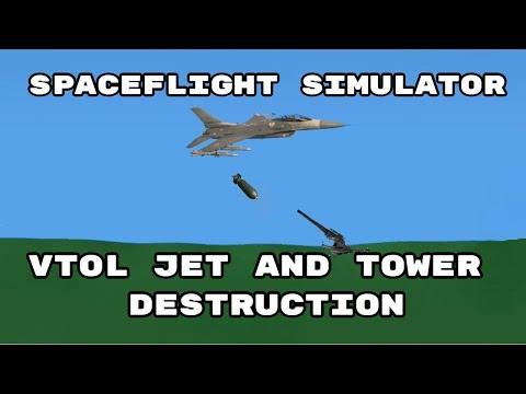 Spaceflight Simulator - VTOL Jet + Flying Rail Gun