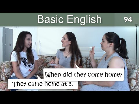 Lesson 94 ?????Basic English with Jennifer??Irregular Verbs in the Simple Past