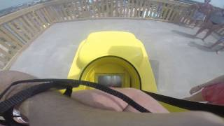 Deep Water Dive POV Tallest slide in America water park Kentucky Kingdom 1080P HD