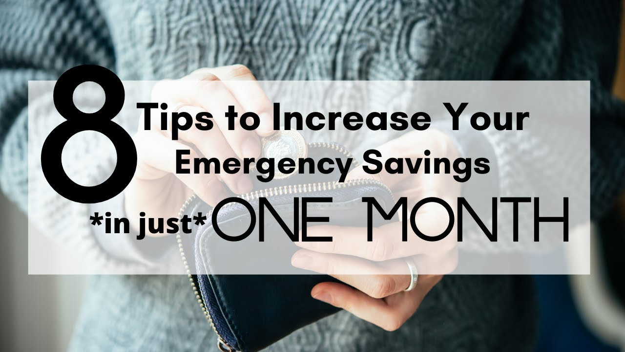 How to Increase an Emergency Savings by *$500 to $1,000* in Just One Month ⎟FRUGAL LIVING TIPS