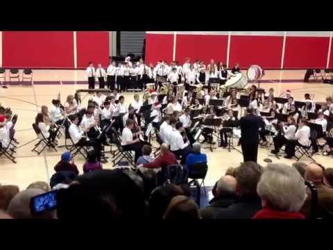 "Pilgrim Park Middle School 2014 Christmas Band Concert finale... ""Sleigh Ride"""