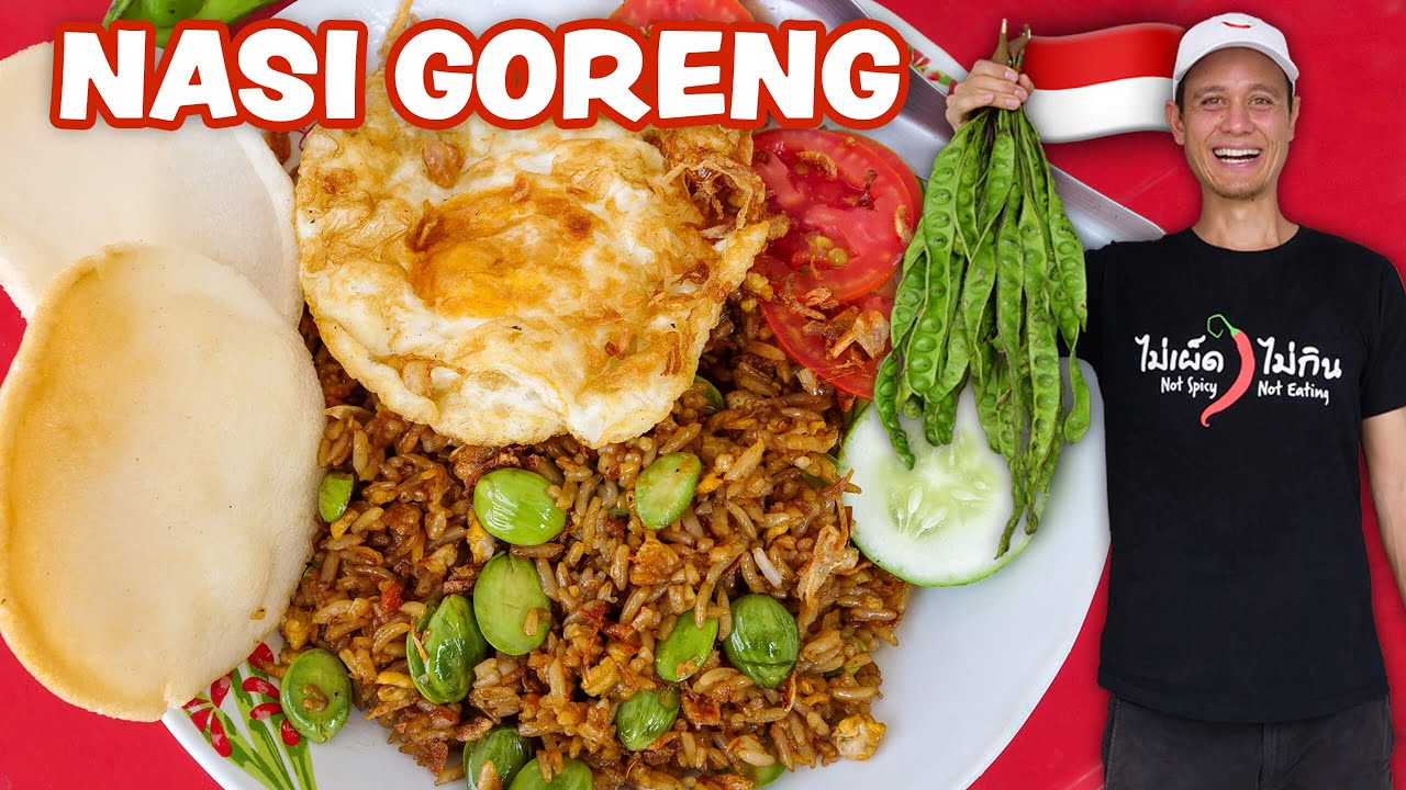 Indonesian Street Food ??  NASI GORENG RECIPE - Fried Rice!! | Street Food at Home Ep. 3