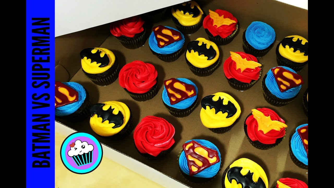 How To Make Batman Vs Superman Cupcakes Pinch Of Luck