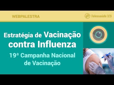 Webpalestra: Estratégia de Vacinação contra Influenza - 19ª Campanha Nacional de Vacinação