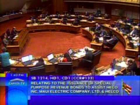 Rep. Thielen addresses  SB 1214 -  assist Hawaiian Electric Company