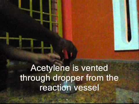 Combustion of acetylene (Pembakaran asetilena)