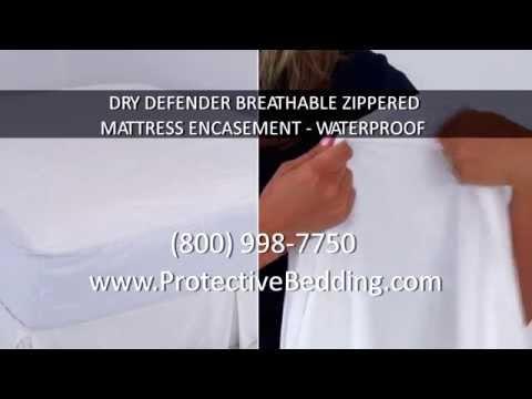 Dry Defender Breathable Zippered Mattress Encasement – Waterproof