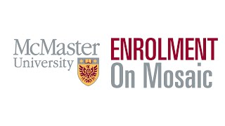 Enrolment on Mosaic