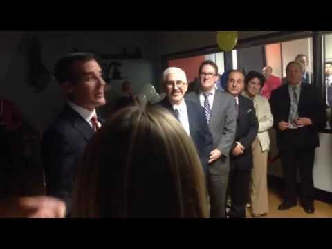 Los Angeles Bureau of Street Lighting - viewing area dedication - Mayor Garcetti speech