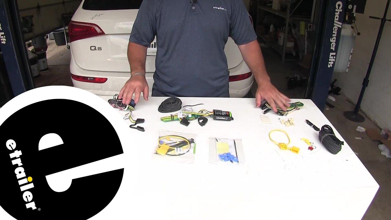 Etrailer Best 2009 Audi Q5 Trailer Wiring Harness Options Youtube