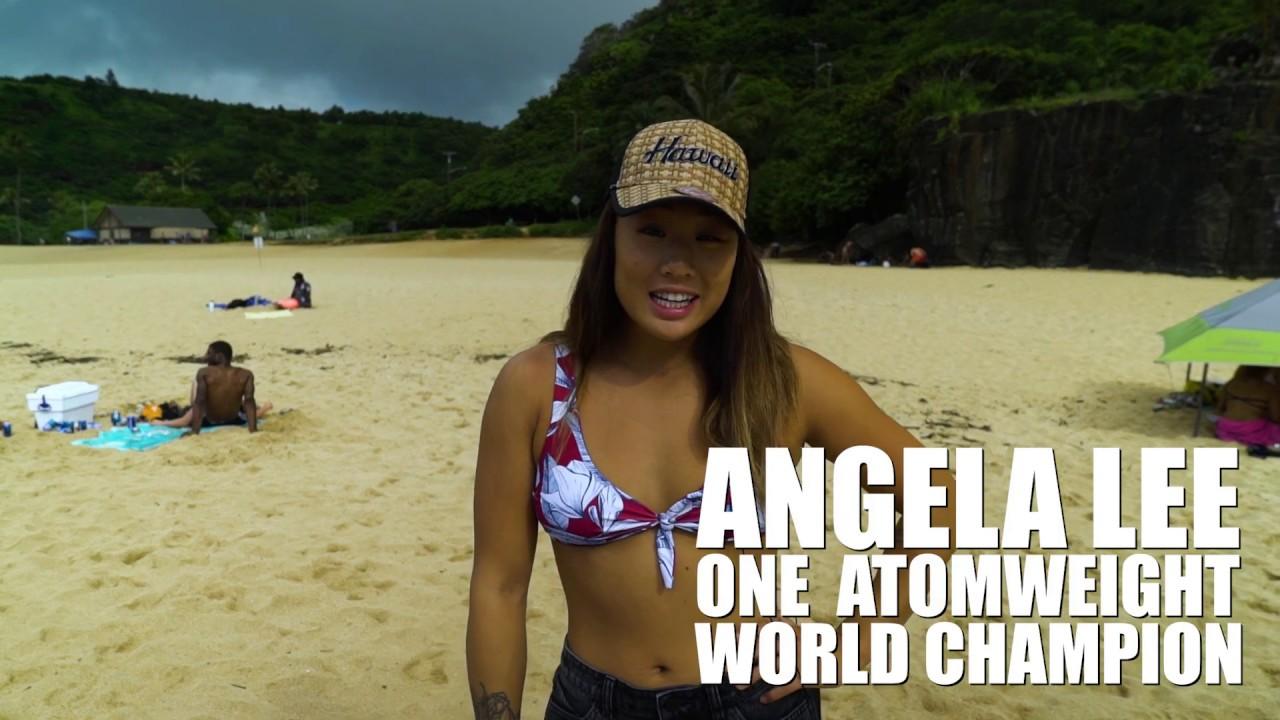 Angela Sun Topless one vlog | angela lee hits the beach