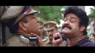 Praja Malayalam Movie   Scenes   Baburaj raids Mohanlal's trust   Mohanlal warns Baburaj   Aishwarya