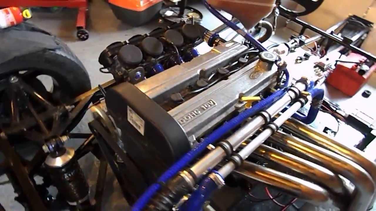 Fisher Fury 20 Zetec Running Nodiz On Zx9 Bike Carbs First Proper Zx9r Engine Diagram Run
