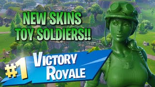 New Toy Soldier Skins!! 15 Elims!! - Fortnite: Battle Royale Gameplay
