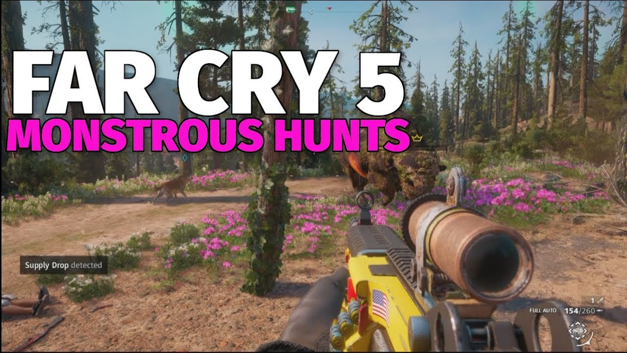 Far Cry New Dawn Monstrous Hunts Bison Cougar Youtube