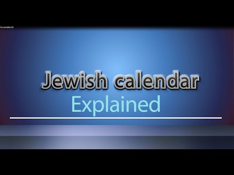 JEWISH CALENDER explained – how the Jewish calendar works,