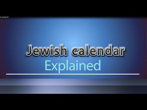 JEWISH CALENDER explained – how the Jewish calendar works,