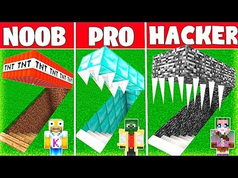 Minecraft NOOB vs PRO vs HACKER: EL BUNKER SECRETO MÁS SEGURO de MINECRAFT 💣 thumbnail